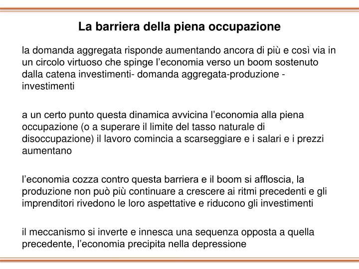 La barriera della piena occupazione