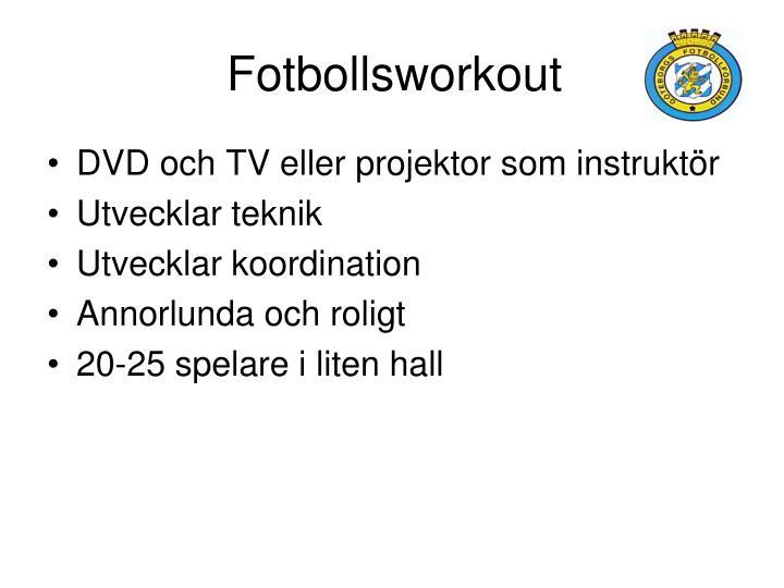Fotbollsworkout