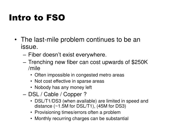 Intro to FSO