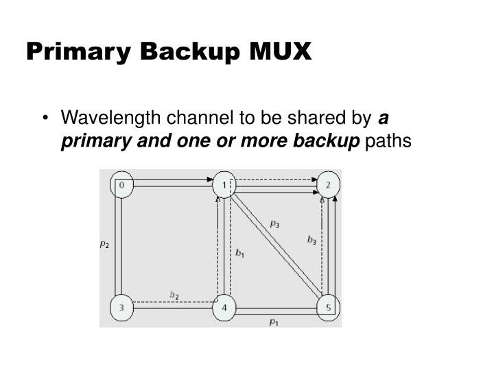 Primary Backup MUX