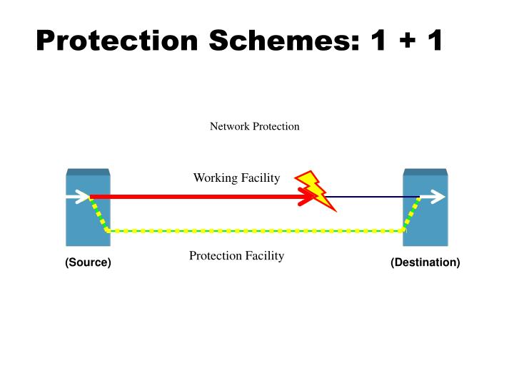 Protection Schemes: 1 + 1