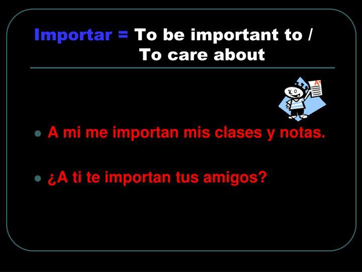 Importar =