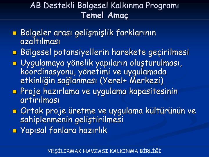 AB Destekli Bölgesel Kalkınma Programı