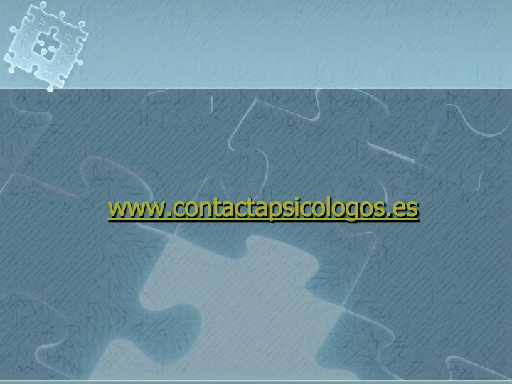 www.contactapsicologos.es