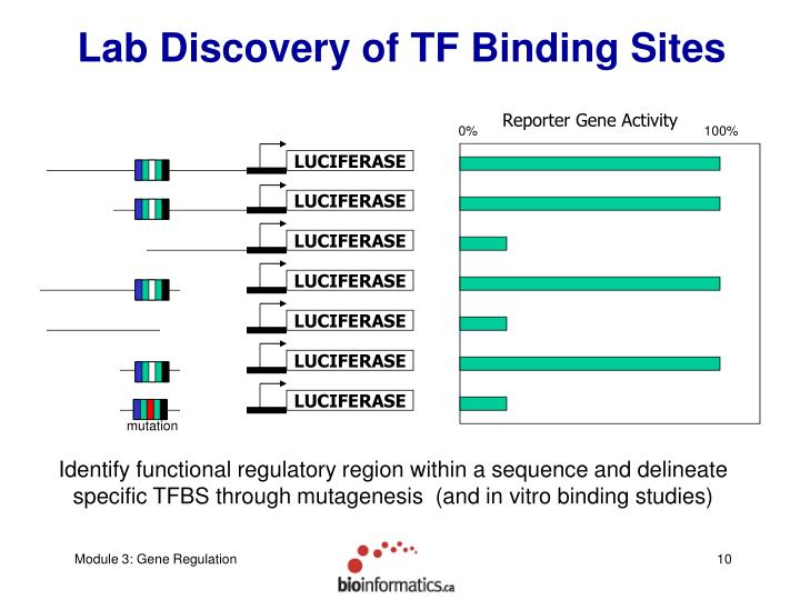 Lab Discovery of TF Binding Sites