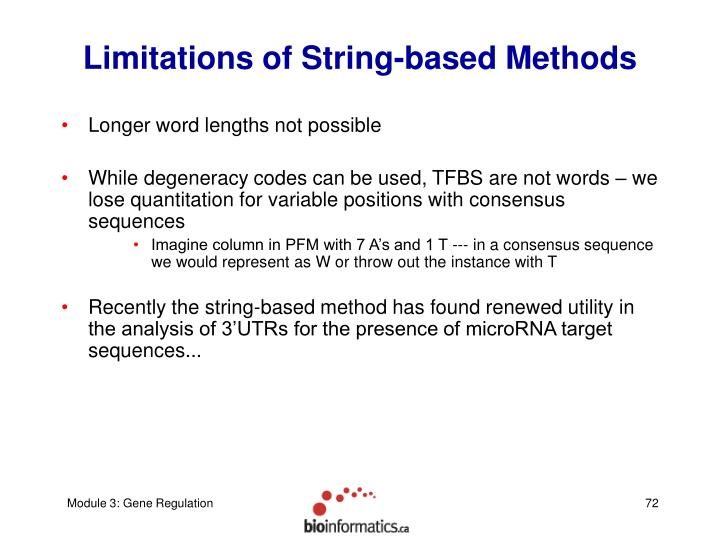 Limitations of String-based Methods