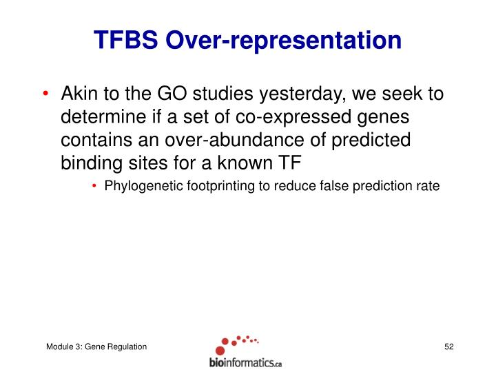 TFBS Over-representation