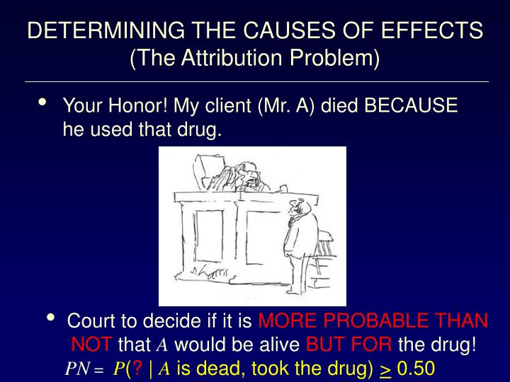 DETERMINING THE CAUSES OF EFFECTS