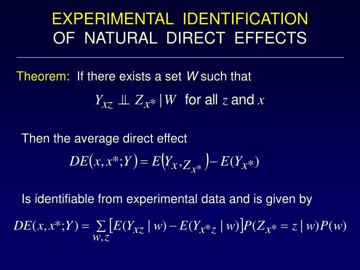 EXPERIMENTAL  IDENTIFICATION
