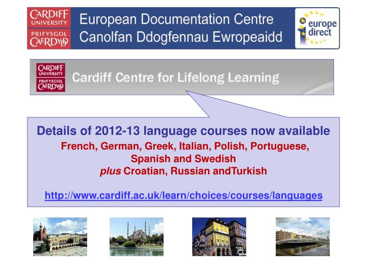 Details of 2012-13 language courses now available