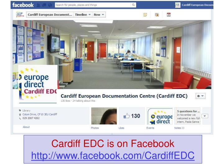 Cardiff EDC is on Facebook