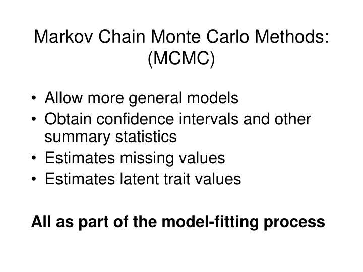Markov Chain Monte Carlo Methods: