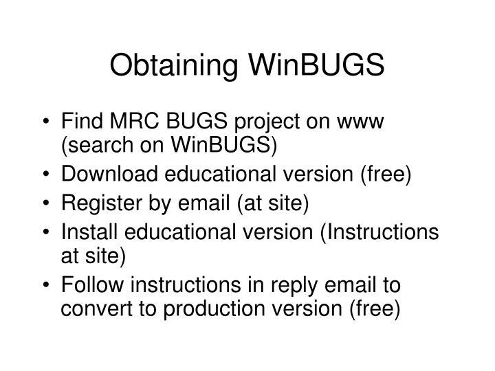 Obtaining WinBUGS