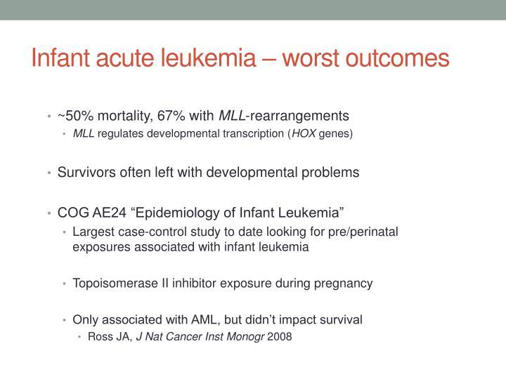 Infant acute leukemia – worst outcomes