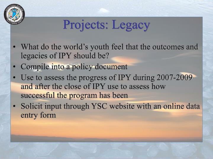 Projects: Legacy