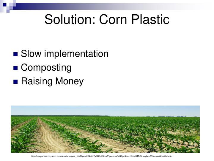 Solution: Corn Plastic