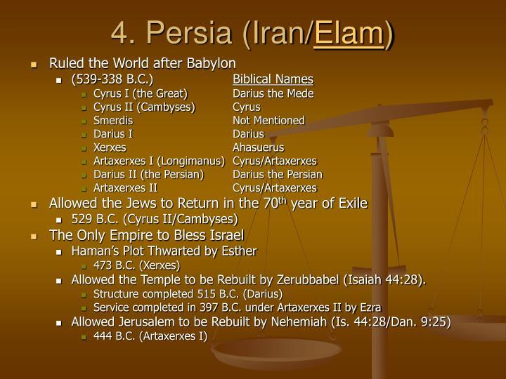 4. Persia (Iran/