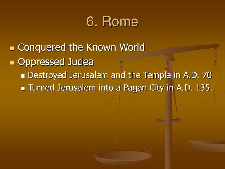 6. Rome