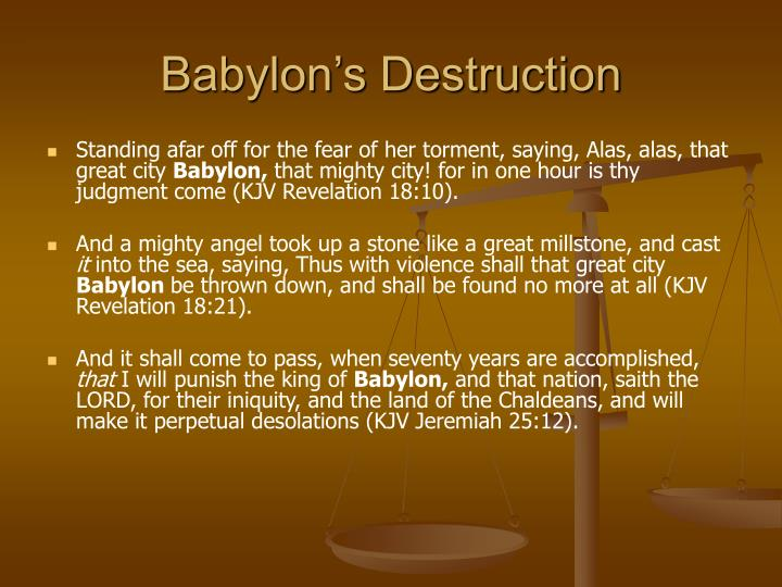 Babylon's Destruction