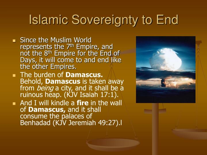 Islamic Sovereignty to End
