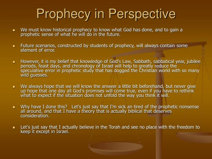 Prophecy in Perspective