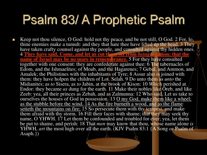 Psalm 83/ A Prophetic Psalm