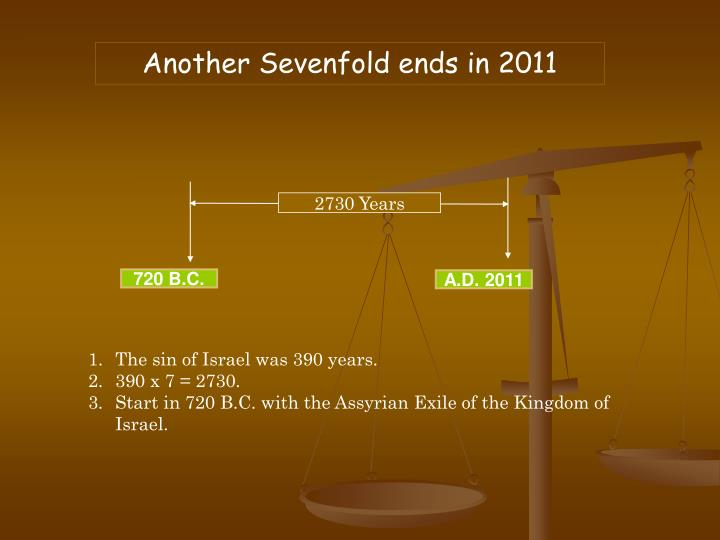 Another Sevenfold ends in 2011