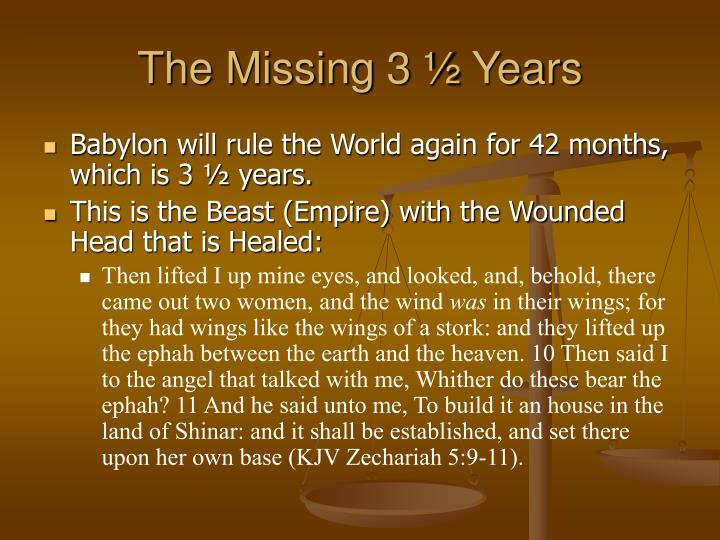 The Missing 3 ½ Years