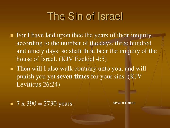 The Sin of Israel