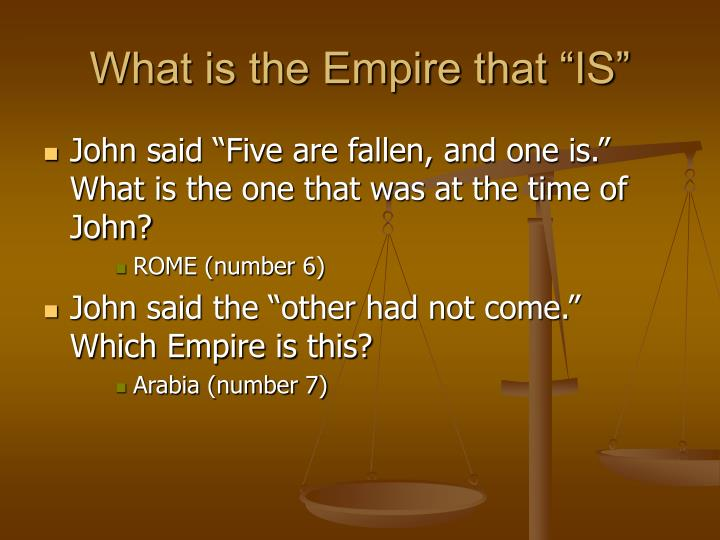 "What is the Empire that ""IS"""
