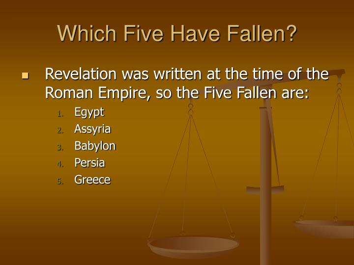 Which Five Have Fallen?
