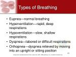 types of breathing