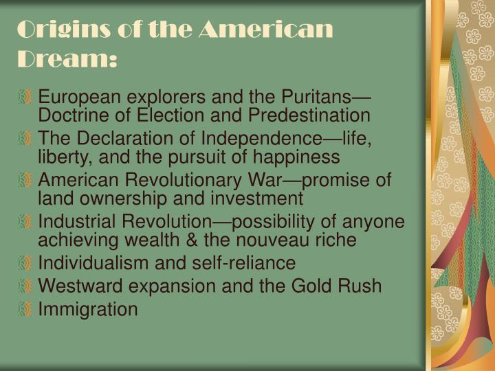 Origins of the American Dream: