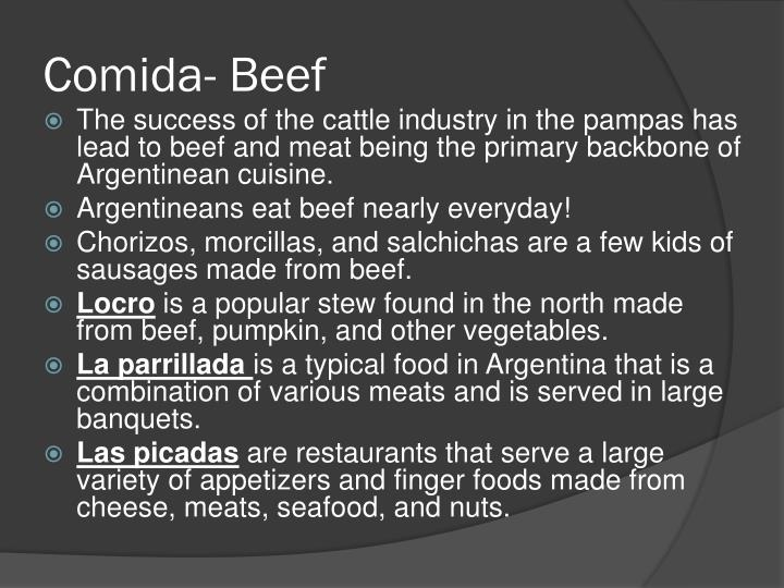 Comida- Beef