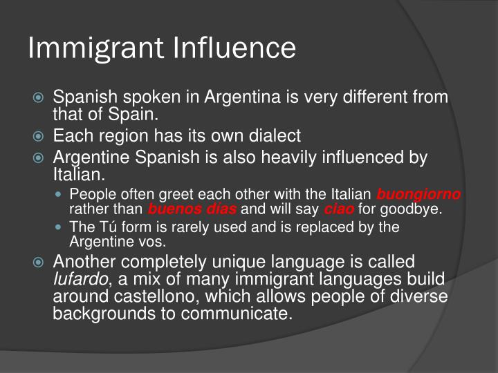Immigrant Influence