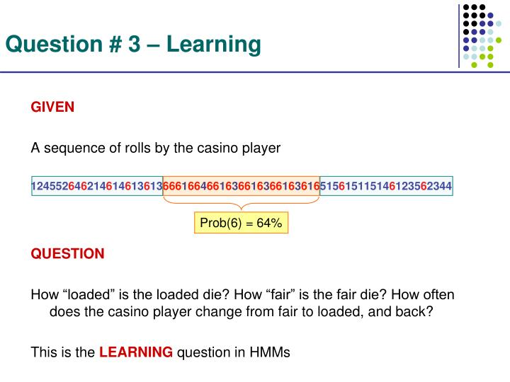 Question # 3 – Learning