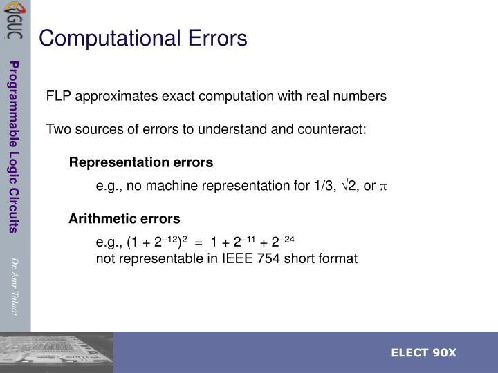 Computational Errors