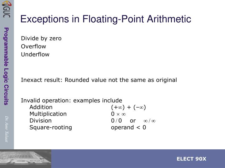 Exceptions in Floating-Point Arithmetic