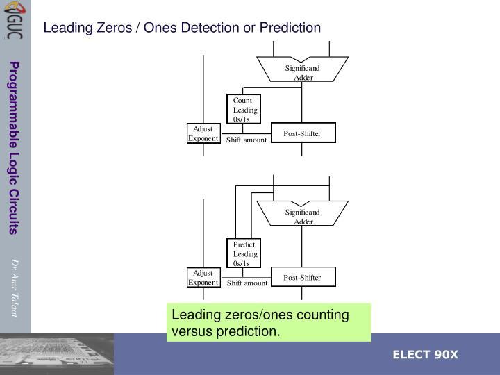 Leading Zeros / Ones Detection or Prediction