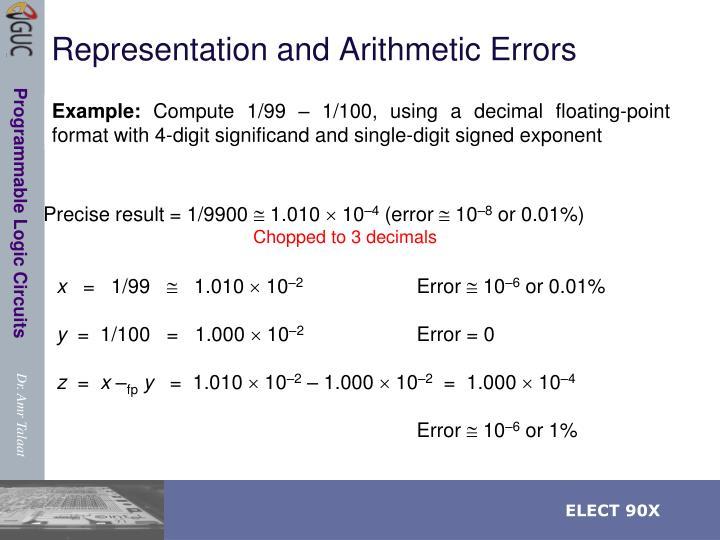 Representation and Arithmetic Errors