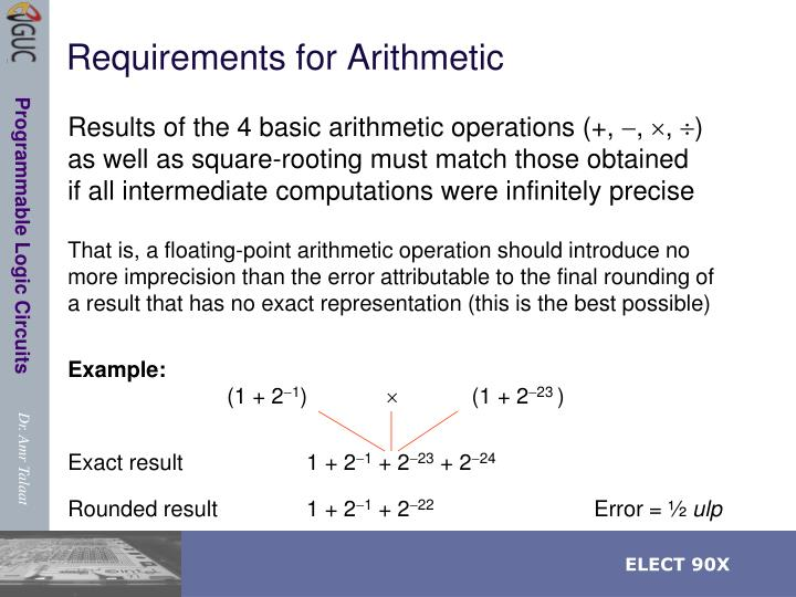 Requirements for Arithmetic