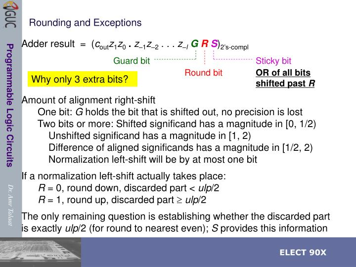 Rounding and Exceptions