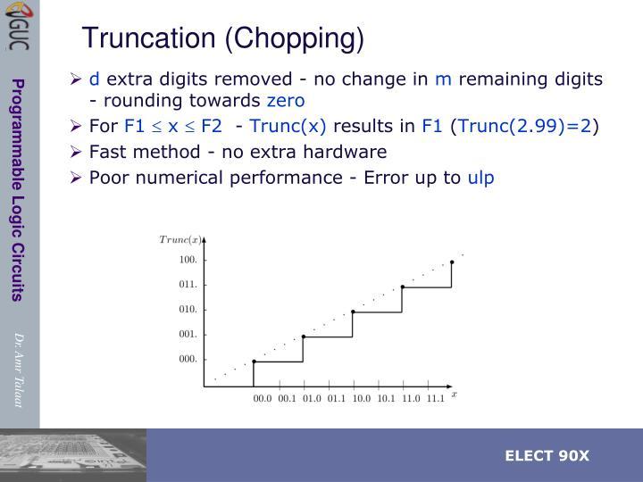 Truncation (Chopping)