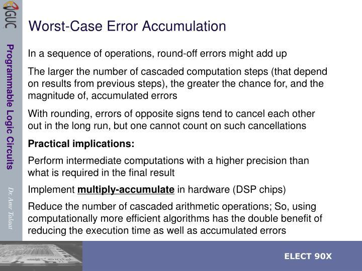 Worst-Case Error Accumulation