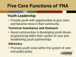 five core functions of yna