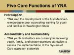 five core functions of yna1