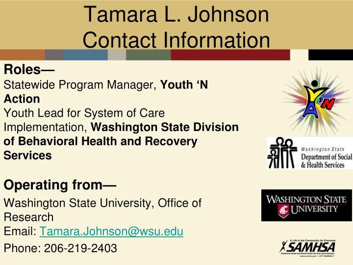 Tamara L. Johnson