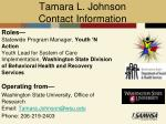 tamara l johnson contact information