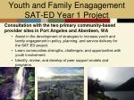 youth and family enagagement sat ed year 1 project