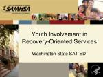 youth involvement in recovery oriented services